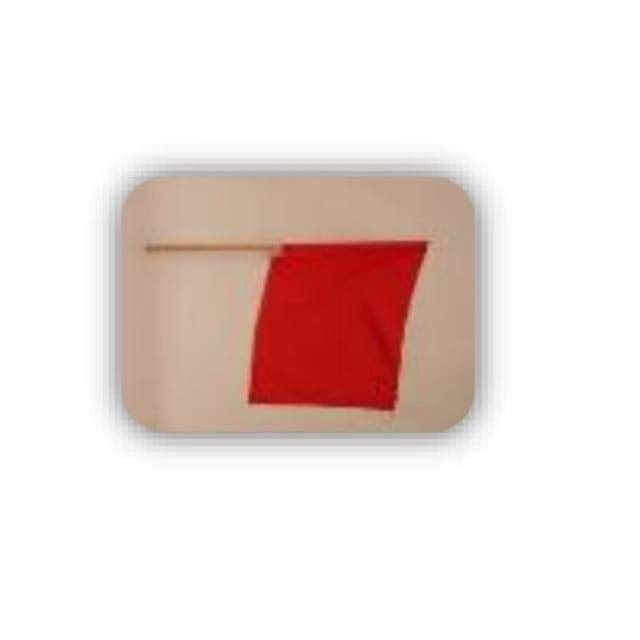 Red Flag Wooden Handle - Safety Mo