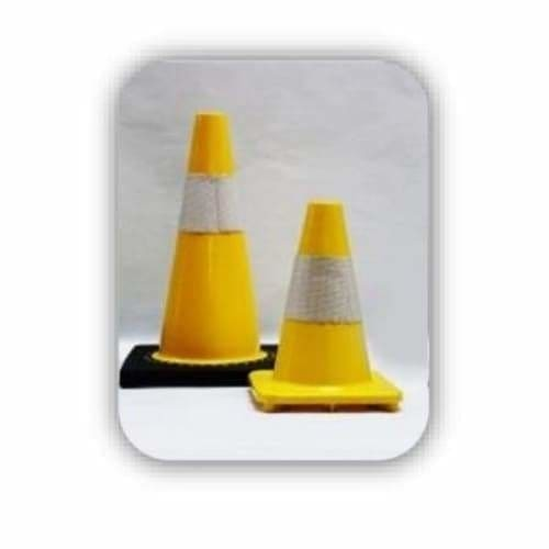 Traffic Cone Soft PVC Yellow 300mm - Safety Mo