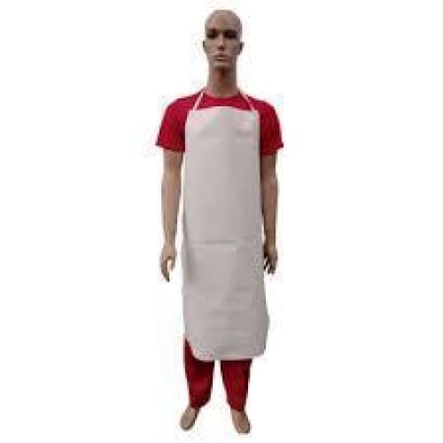 White pvc apron blood and fat resistant - Apron