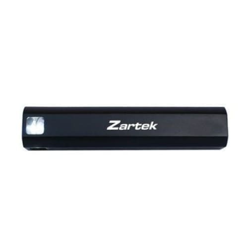 Zartek LED Aluminium torch, 150Lumen USB Powerbank 2000mAH, Recharge via USB - Safety Mo