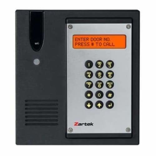 zartek multi user wireless intercom gate station with external L bracket antenna, cable 8m, power - Safety Mo