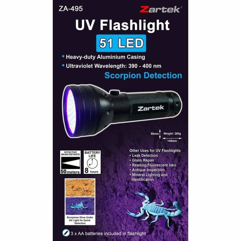 Zartek UV Flashlight - Safety Mo
