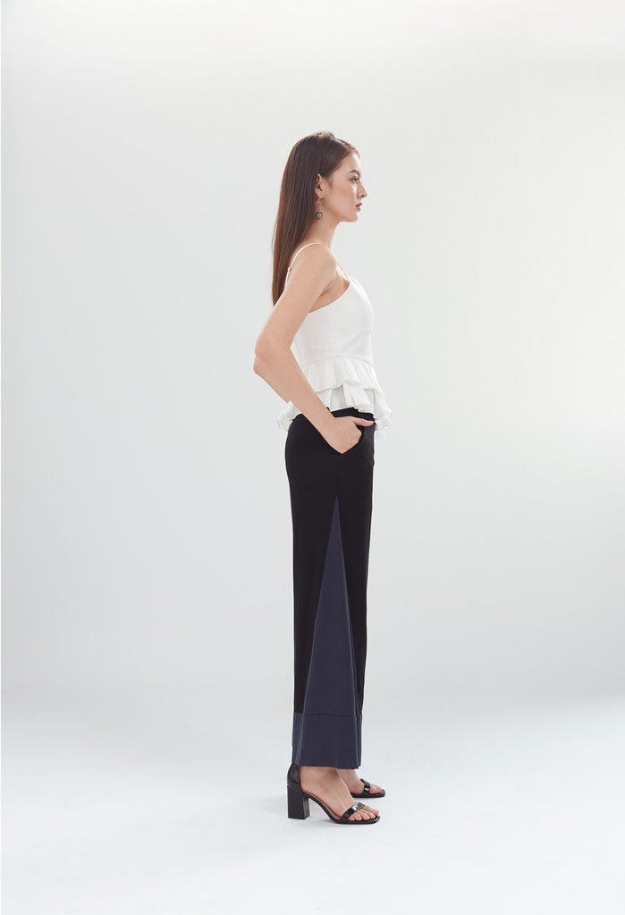 PRE-ORDER Deco High Waist Trousers in Black & Navy