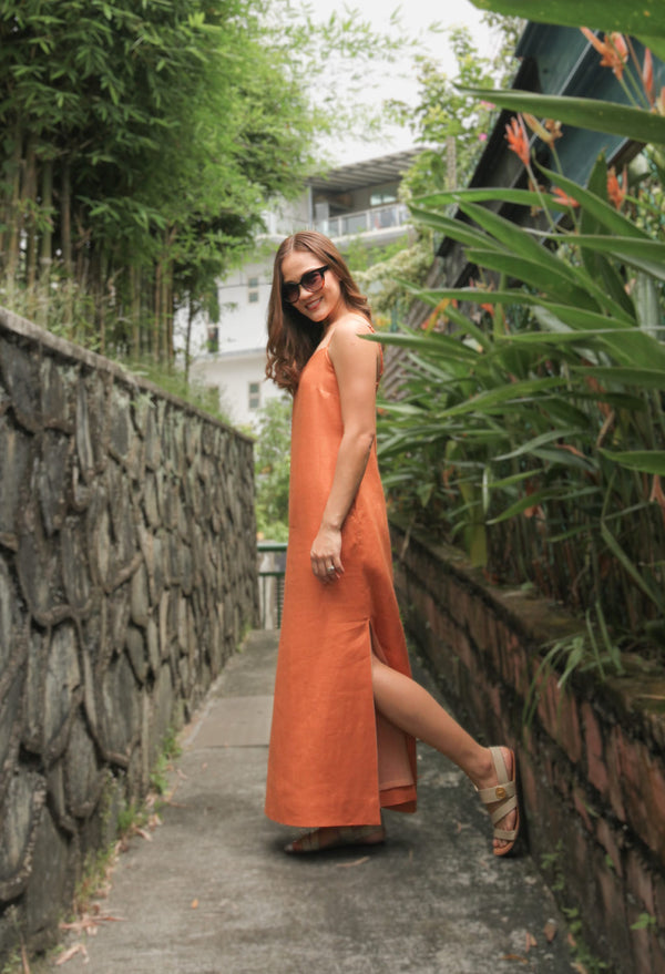 Celia Maxi Dress in Thai Iced Tea
