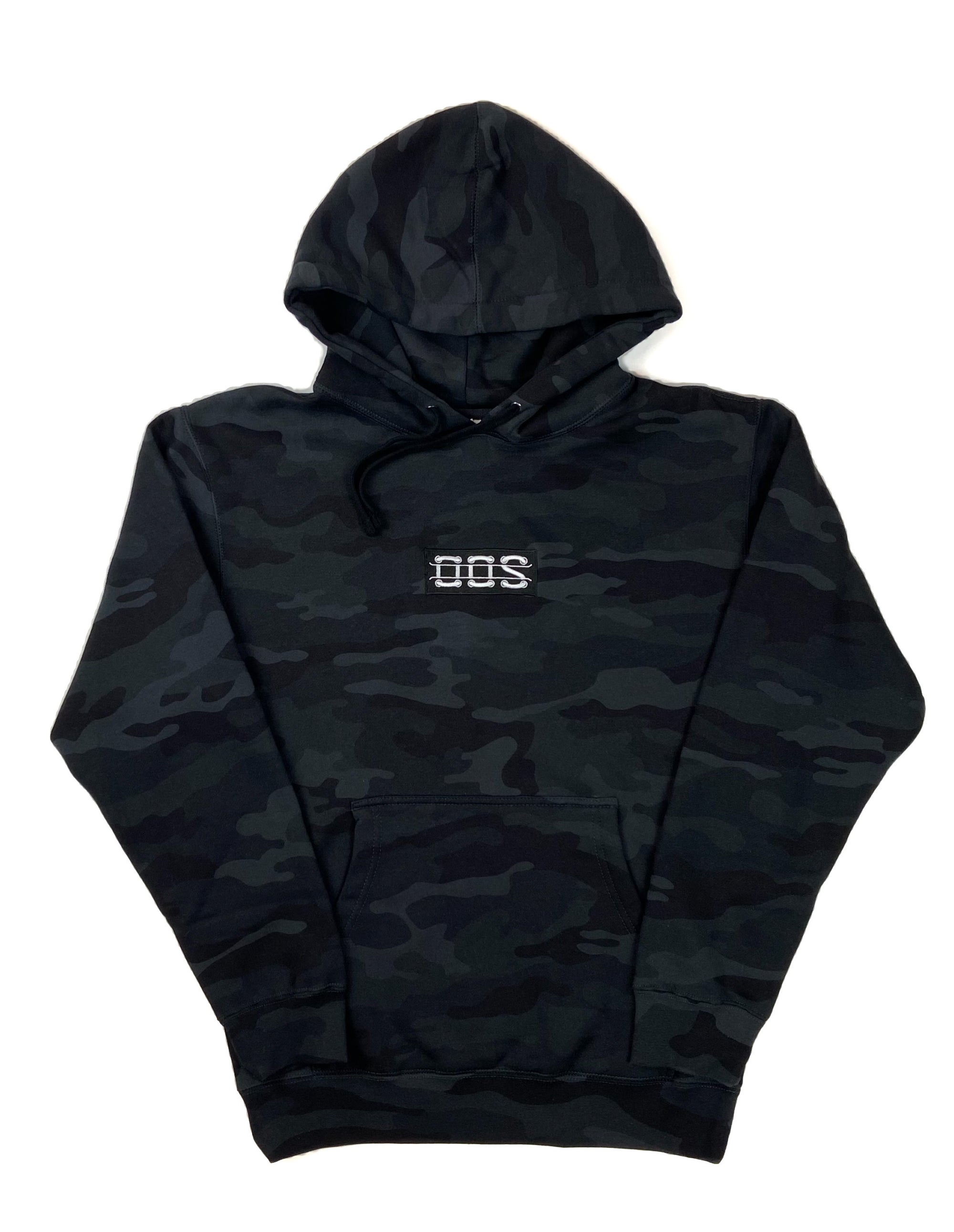 OOS Box Logo Embroidered Hoodie - Black Camo