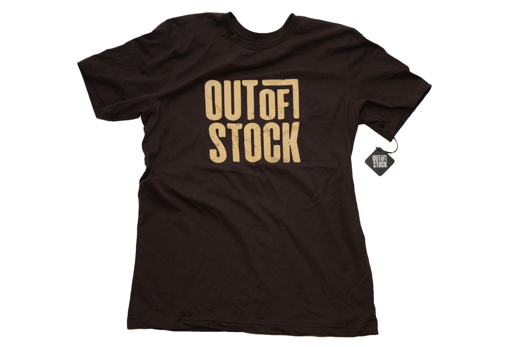 OG Distressed Out of Stock Logo - Brown