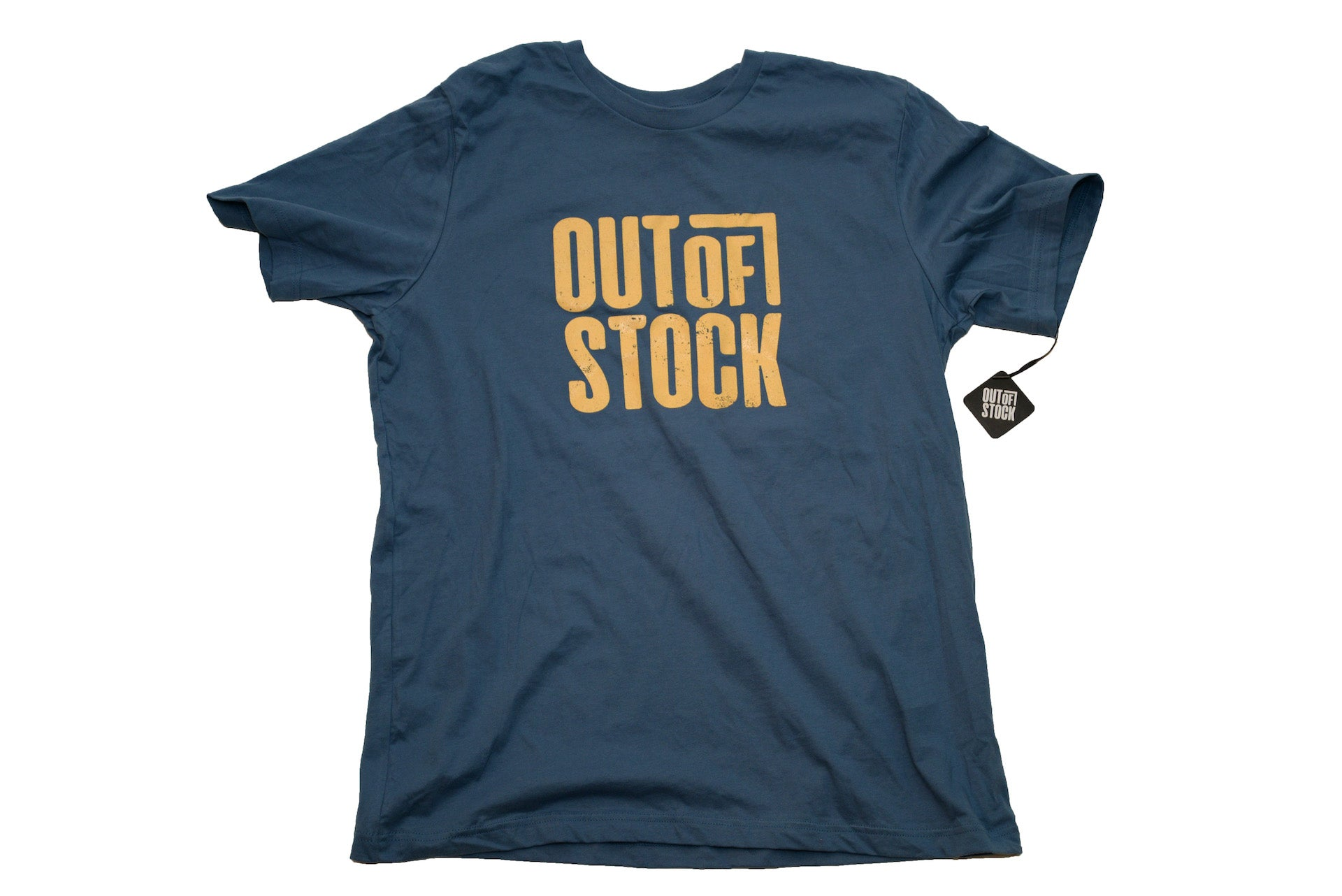 OG Distressed Out of Stock Logo - Steel Blue