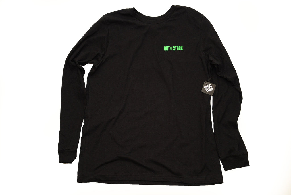 OOS Stacked Back L/S Tee - Heather Black