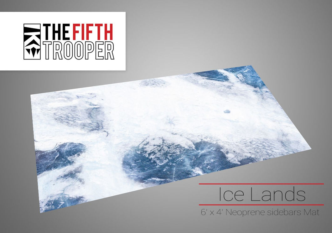 Fifth Trooper Ice Lands 6'x4' Gaming Mat With Carrying Bag