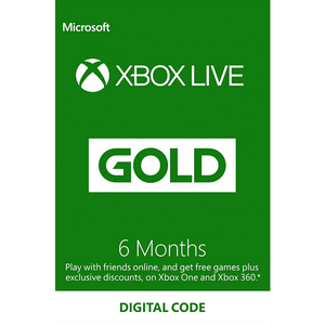 Xbox Live 6 Months Gold Membership Code US Region.