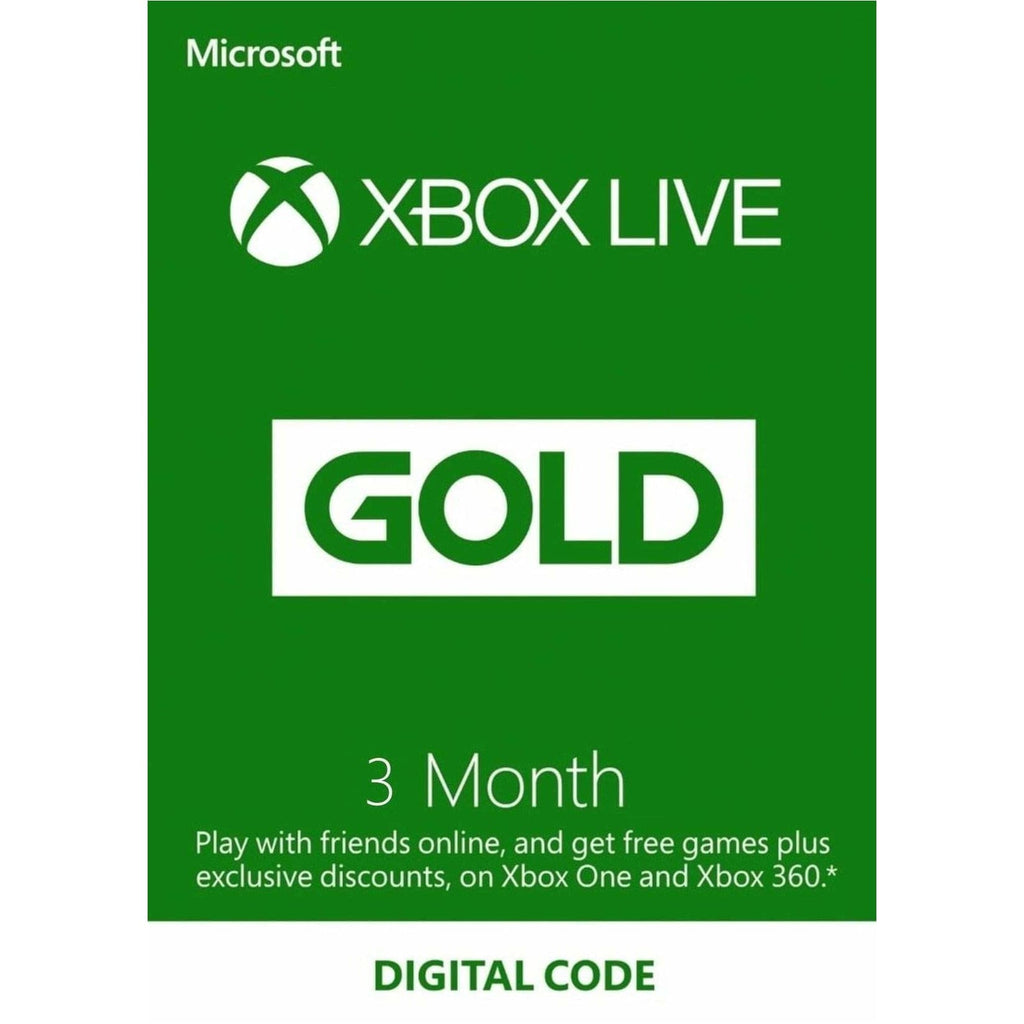 Xbox Live 3 Month Gold Membership Code GLOBAL