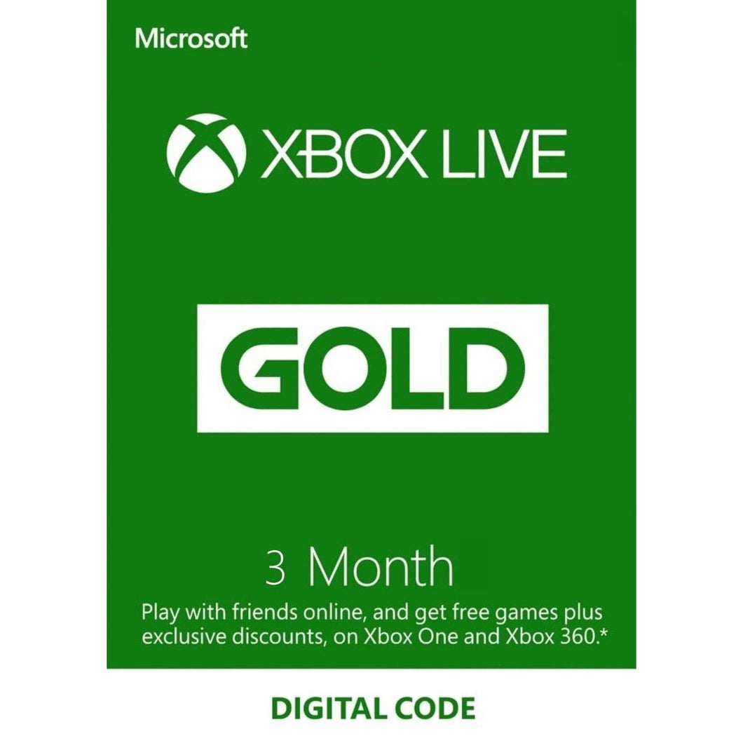 Xbox Live 3 Months Gold Membership Code US Region