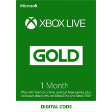 Load image into Gallery viewer, Xbox live gold 1 month