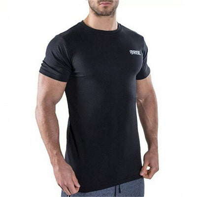 Mens Short sleeve Cotton T-shirt Male Casual Fashion Printed t shirt Gyms Fitness Bodybuilding Workout Brand Tees Tops Apparel