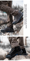 Super Warm Men Winter Boots Suede Leather Men Boots Fur Plush Snow Boots waterproof Winter Shoes For Men Outdoor Boots Shoes
