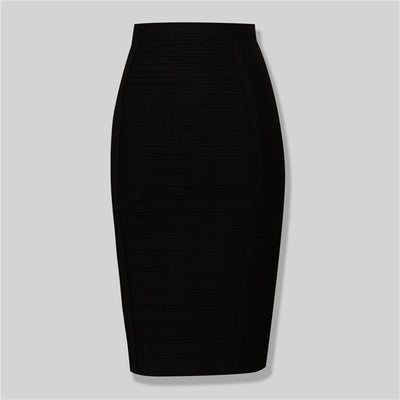 13Colors Women Summer Fashion Sexy Black Red Beige Bandage Skirt 2019 Knitted Elastic Sweet Pencil Skirt