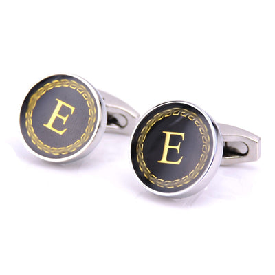 New Arrival Fashion Letter A D R H M Cufflinks The English alphabet Cuff Links Men Shirt Charm Cufflinks Wholesale Free Shipping