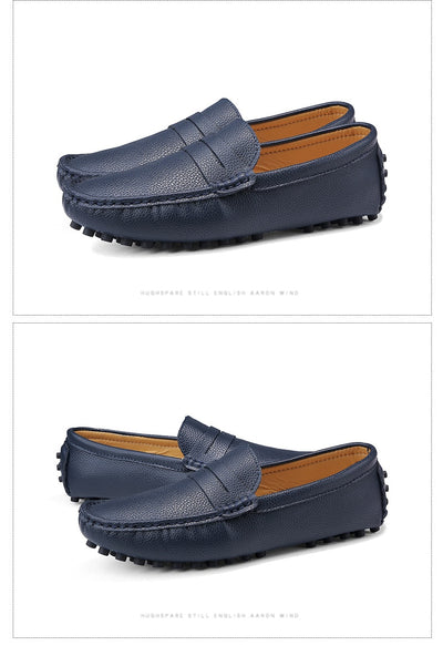 DEKABR Size 49 Men Casual Shoes Fashion Men Shoes Genuine Leather Men Loafers Moccasins Slip On Men's Flats Male Driving Shoes