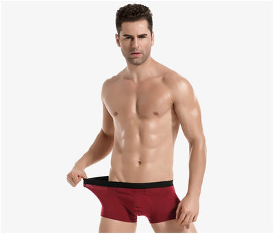 890 4pcs/lot Men's Underwear Cotton Boxers Man Breathable Panties Solid Shorts Brand Underpants B0007
