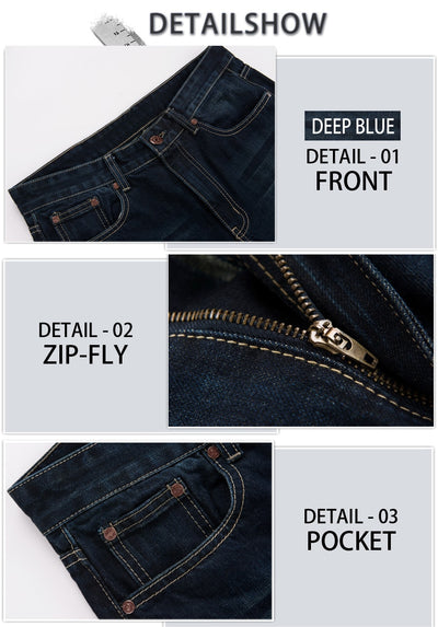 GRG Mens Jeans Tradition Boot Cut Leg Fit Jeans Classic Stretch Denim Flare Deep Blue Jeans Male Fashion Stretch Pants