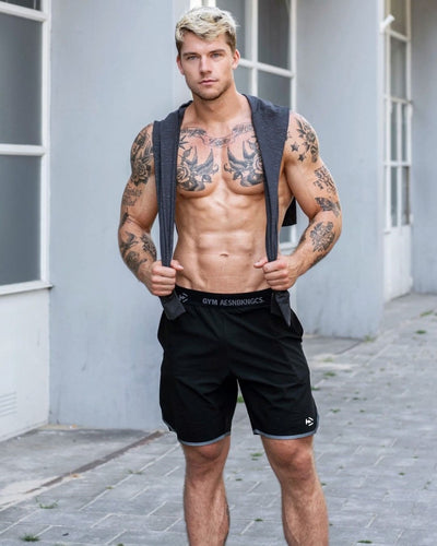 Men Summer Slim Shorts Gym Fitness Bodybuilding Running Male Short Pant Knee Length Light Thin Breathable Sportswear