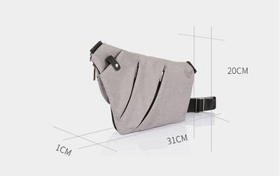BYCOBECY New Men Nylon Chest Bag Ultralight Canvas Cross Body Shoulder Bag Waterproof Casual Short Trip Small Male Messenger Bag