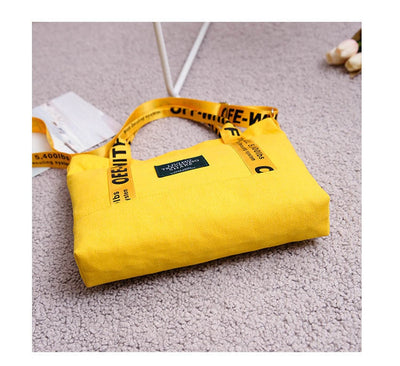 High Capacity Women's Shopping Beach Bag 2019 New Canvas Tote Ladies Casual Shoulder Bag Foldable Reusable Shopping Bag