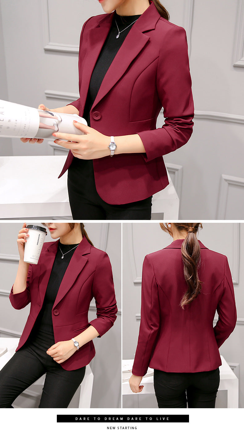 new arrival  2019fall and winter suit office lady  suit female long sleeved slim suit fashion bottoming clothing D171 30