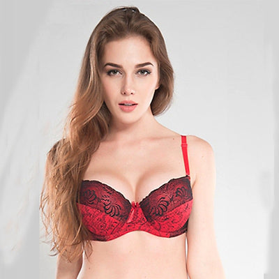 Sexy Bras For Women Push Up Bra Lace Plus Size Brassiere Lingerie Bralette Ultra-thin Large Cup D E F Female Underwire Underwear