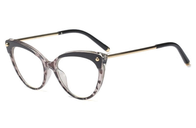 Cat Eye Glasses Frames Plastic titanium Women Trending Rivet Styles Optical Fashion Computer Glasses