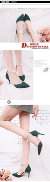 Sexy Hollow With Sandals  Summer Women Pumps Shoes  Women Pumps Green String Bead High-heeled