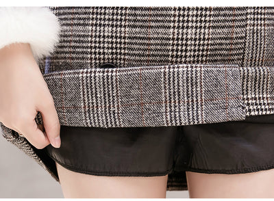 winter women skirt Wool Plaid Skirt fashion woman skirts 2018 High waist mini Short Skirt elegant womens clothing 1916 50