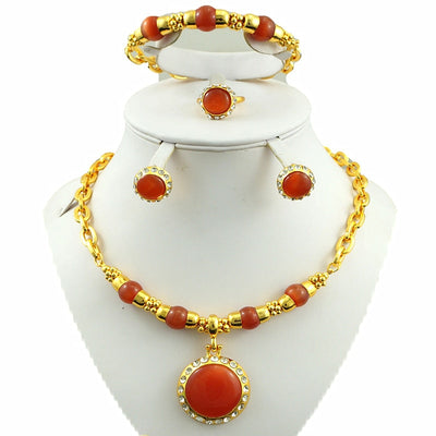 gold plating jewelry sets african big necklace fine jewelry sets party african women necklace dubai necklace new designs