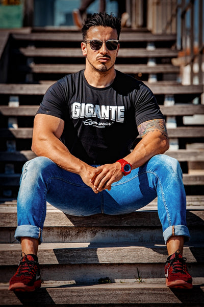 Men Short sleeve Print T-shirt Gyms Fitness Slim Cotton t shirt 2018 Summer New Male Casual Fashion Army Green Tee Tops Clothing