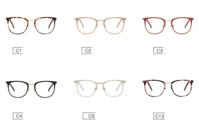 CCSPACE Ladies Square Glasses Frames Women Metal Legs Brand Designer Optical EyeGlasses Fashion Eyewear Computer Glasses 45466