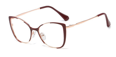 45955 Cat Eye Half Frame Glasses Frames Men Women Optical Fashion Computer Glasses