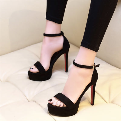 2019 platform sandals peep toe high heels sandals women Ankle Strap Shoes Gladiator Party Dress Wedding Shoes heels