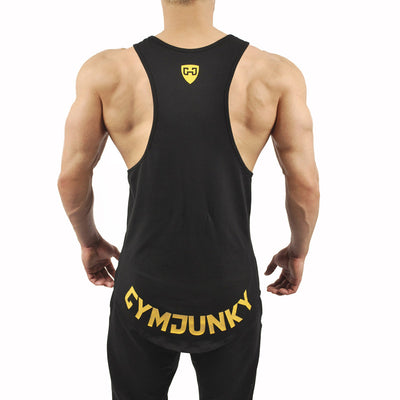 Summer sports vest men's gym fitness bodybuilding vest jogger running sleeveless outdoor training breathable tights cotton vest