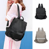 Fashion women's anti-theft backpack Oxford cloth waterproof solid color school bag casual detachable shoulder strap shoulder bag
