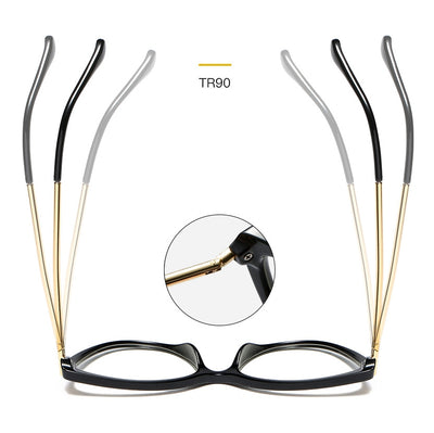 45963 Plastic Titanium Retro Cat Eye Glasses Frames Men Women Optical Fashion Computer Glasses