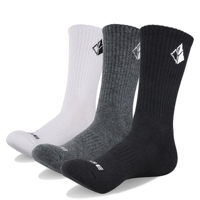 YUEDGE 3 Pairs Men Socks Men Compression Harajuku Long Socks Business Casual Mens Dress Sock For Gift Plus Size38-46