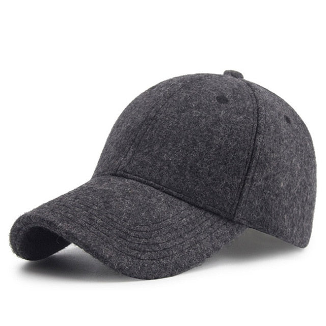 [AETRENDS] Winter Wool Felt Cap Men Baseball Cap Vintage Russia Hats for Men Thick Dad Hat Baseball Sport Brand Man Caps Z-6585