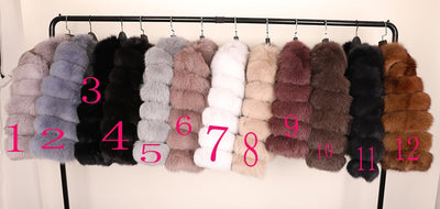 maomaokong 50CM Natural Real Fox Fur CoatWomen Winter natural fur Vest Jacket Fashion silm Outwear Real Fox Fur Vest Coat Fox