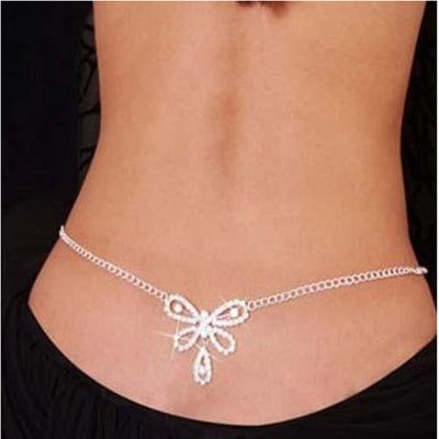 Various Types Sexy Rhinestone Body Jewelry Belly Waist Chain Lower Back Chain for Women Crystal Body Chain Waist Belt Jewelry