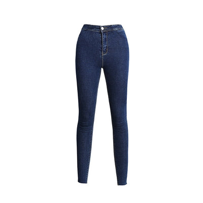 Stretchy Skinny Women Jeans Black Pencil Pants Casual 2019 Nes high waist Mom Jeans Full Length Blue Ladies Push Up White Denim