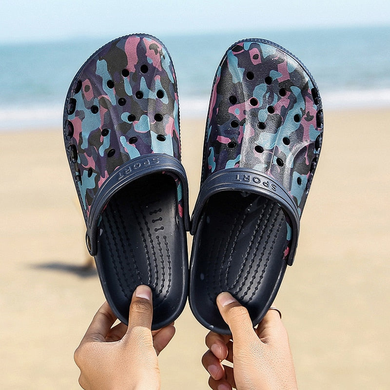 Men Sandals 2019 Crok Adulto Clogs Crocse Crocks shoes EVA Sandalias Summer Beach Shoes Slippers Cholas hombre Bayaband Croc