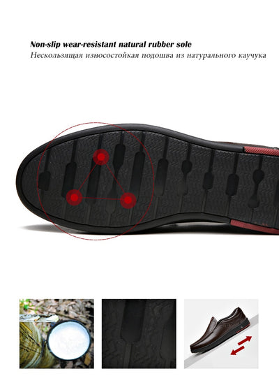 Plus Size 48 Men Genuine Leather Shoes Casual Men Loafers Shoes Comfortable Quality Men Flats Breathable Men Shoes Moccasins