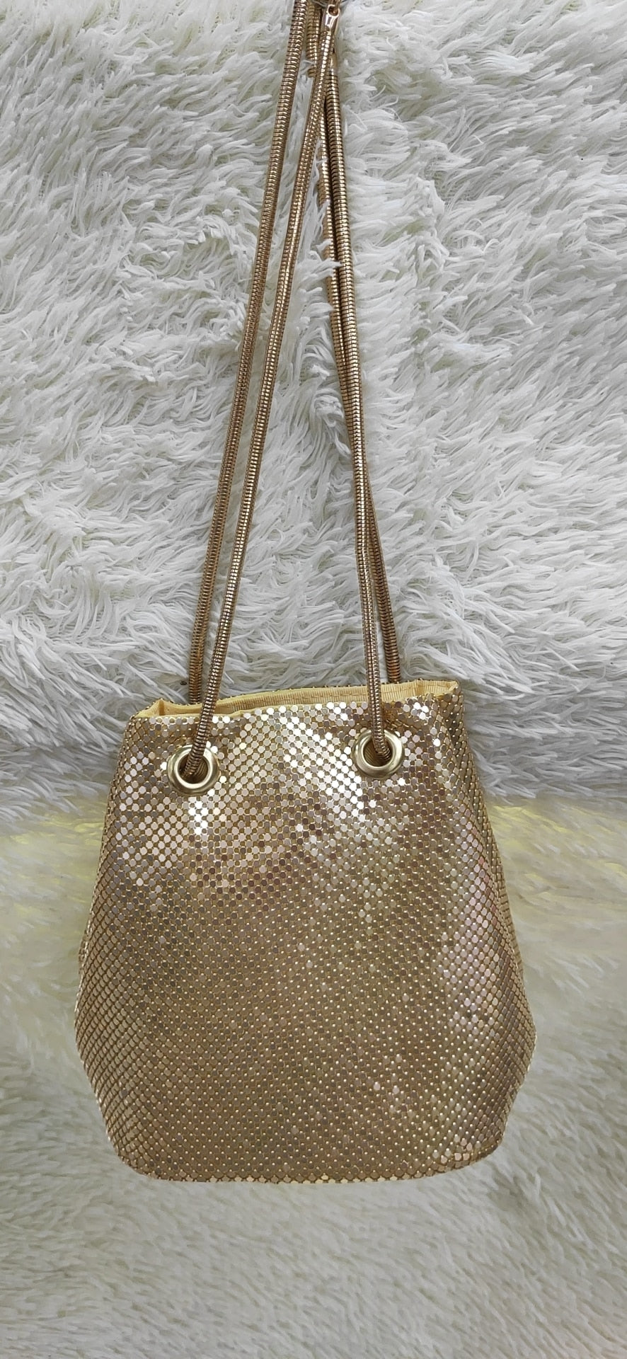 black Fashion Chain Shoulder Bag Evening Party Bucket Sequin Bag For Women 2018 Sliver Gold Purse girl Handbags Female dropship