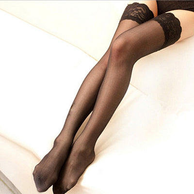 6 Colors Sexy Stocking Women Hot Sheer Black Lace Tighs High Stockings Erotic Lingerie Garter Pantyhose Female Sexy Stockings