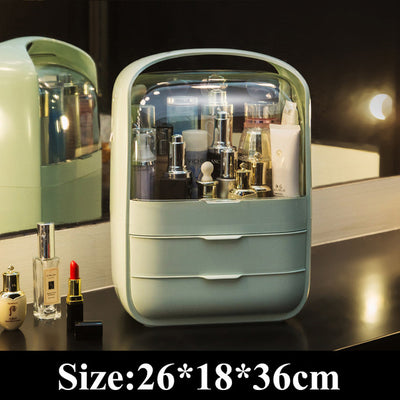 New Cosmetic Storage Box Large Makeup Organizer Dustproof and waterproof jewelry Cosmetic storage drawerBathroom cosmetic case